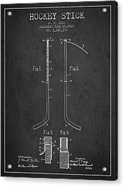 Hockey Stick Patent Drawing From 1915 Acrylic Print