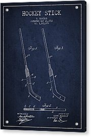 Hockey Stick Patent Drawing From 1916 Acrylic Print