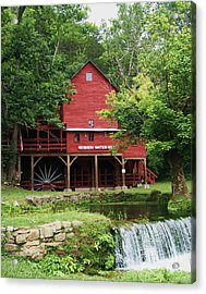 Acrylic Print featuring the photograph Hodgson Water Mill And Spring by Julie Clements