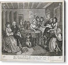 Hogarth On Venereal Disease Acrylic Print by British Library
