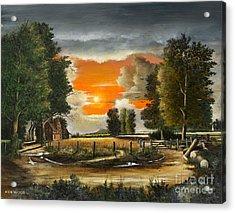 Hoggets Farm Acrylic Print