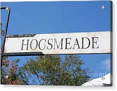 Hogsmeade Sign Acrylic Print