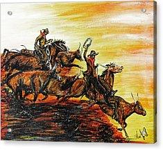 Hol-ly Cow Acrylic Print