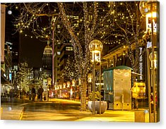 Holiday Lights In Denver Colorado Acrylic Print