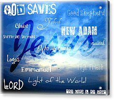 Holy Name Of Jesus Acrylic Print by Sharon Soberon