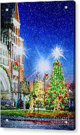 Home Town Christmas Acrylic Print by Darren Fisher