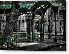 Homeless In Seattle Acrylic Print by David Patterson