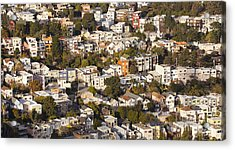 Homes Of San Francisco Acrylic Print by B Christopher