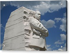 Acrylic Print featuring the photograph Honoring Martin Luther King by Cora Wandel