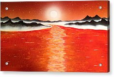 Acrylic Print featuring the painting Horizon by Michael Rucker