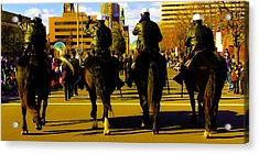 Horse Patrol Acrylic Print by Michael Nowotny