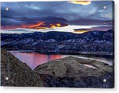 Horsetooth At Sunset Acrylic Print