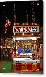 Hot Dog On A Stick Acrylic Print by Peter Tellone