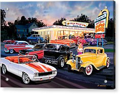 Hot Rod Drive In Acrylic Print