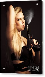 Hot Shot Woman Acrylic Print
