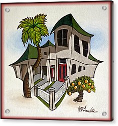 House Caricatures For Sale Acrylic Print by Walt Foegelle