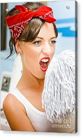 House Cleaning Fun Acrylic Print by Jorgo Photography - Wall Art Gallery