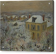 House In Winter Acrylic Print by Gustave Loiseau
