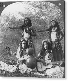 Hula Dancers, C1905 Acrylic Print