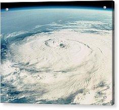 Hurricane Elena Acrylic Print by Nasa/science Photo Library