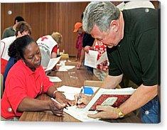 Hurricane Katrina Disaster Relief Centre Acrylic Print
