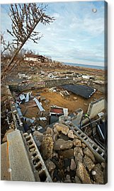 Hurricane Sandy Damage Acrylic Print by Jim West