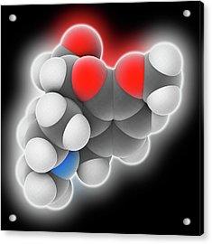 Hydrocodone Drug Molecule Acrylic Print by Laguna Design
