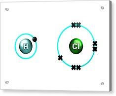 Hydrogen Chloride Molecule Bond Formation Acrylic Print