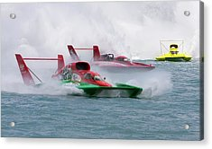 Hydroplane Racing Acrylic Print by Jim West