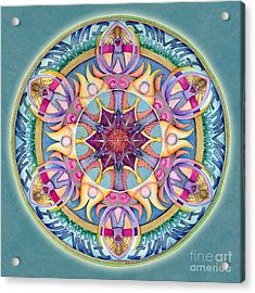 I Am Enough Mandala Acrylic Print by Jo Thomas Blaine
