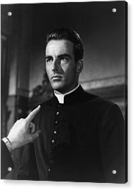 I Confess, Montgomery Clift, 1953 Acrylic Print by Everett