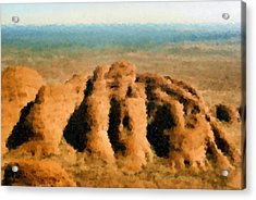 I Flew To The Olgas In An Old Fragile Plane Acrylic Print by Asbjorn Lonvig