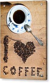 I Love Coffee Acrylic Print by Sarka Olehlova