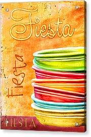 I Love Fiestaware Acrylic Print