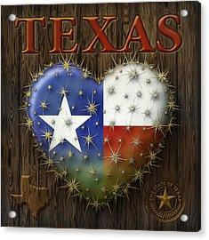 I Love Texas Acrylic Print
