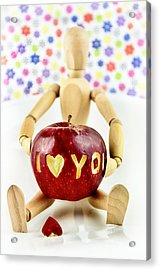 I Love You Acrylic Print by Gynt