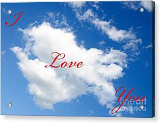 1 I Love You Heart Cloud Acrylic Print
