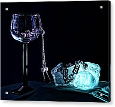 Ice Acrylic Print by Camille Lopez