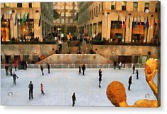 Ice Skating In New York City Acrylic Print