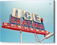 Ice Skating Acrylic Print by Matthew Bamberg