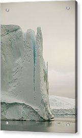 Icebergs From The Jakobshavn Glacier Acrylic Print