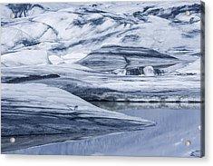 Icebergs, Hoffellsjokull Glacier Acrylic Print by Panoramic Images