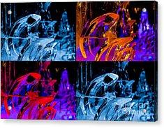 Icicle Mosaic Acrylic Print