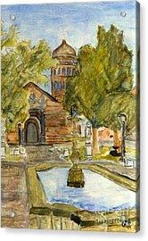 Iglesia En La Serena Acrylic Print by Greg Mason Burns