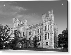 Illinois State University Cook Hall Acrylic Print by University Icons