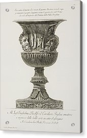 Illustration Of Classical Urn Acrylic Print