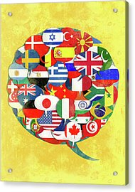Illustration Of Global Networking Acrylic Print