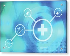 Illustration Of Medical Signs Acrylic Print by Fanatic Studio / Science Photo Library