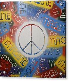 Imagine Peace Acrylic Print by Drew Shourd