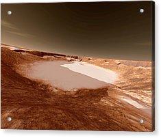 Impact Crater On Mars Acrylic Print